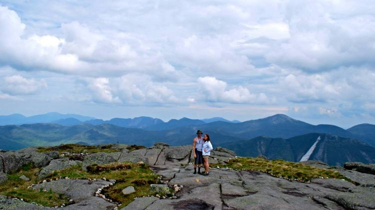 Standing on the summit of Algonquin Peak.