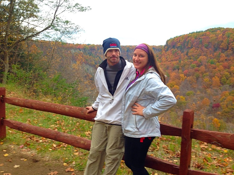 Photo taken by a nice woman who drove to the Great Bend overlook, which was 4 miles in to our hike.