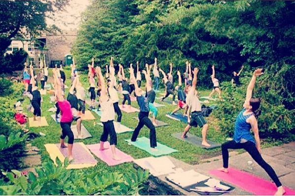 RYP's Yoga in the Park event in July 2014.