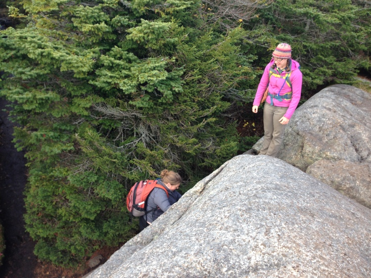 Scrambling on Porter near summit