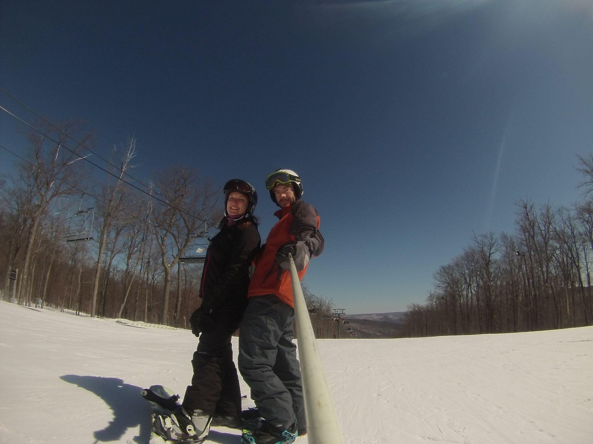 Ski Pole Selfie with GoPro
