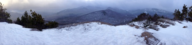 Owl's Head Pano Before Summit